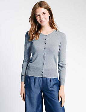 Button Through Cardigan, SILVER GREY, catlanding