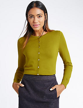 Button Through Cardigan, CHARTREUSE, catlanding