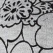 Line Floral Print Round Neck Cardigan, GREY MIX, swatch