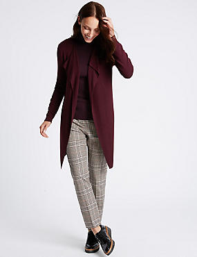 Open Front Cardigan, DARK GRAPE, catlanding