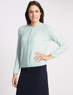 Cashmilon™ Button Front Cardigan, MINT, catlanding