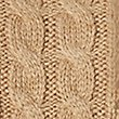 Button Back Cable Knit Jumper, CAMEL, swatch