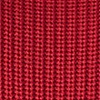 Pure Cotton Ribbed Slash Neck Jumper, RED, swatch
