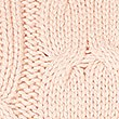 Cotton Blend Cable Knit Button Sleeve Jumper, BLUSH, swatch