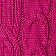 Cotton Blend Cable Knit Button Sleeve Jumper, FUCHSIA, swatch