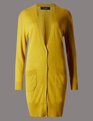 Удлинённый кардиган свободного силуэта от Marks & Spencer