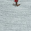 Embellished Round Neck Short Sleeve Jumper, GREY MARL, swatch