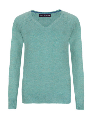 Pure Lambswool V-Neck Jumper Clothing