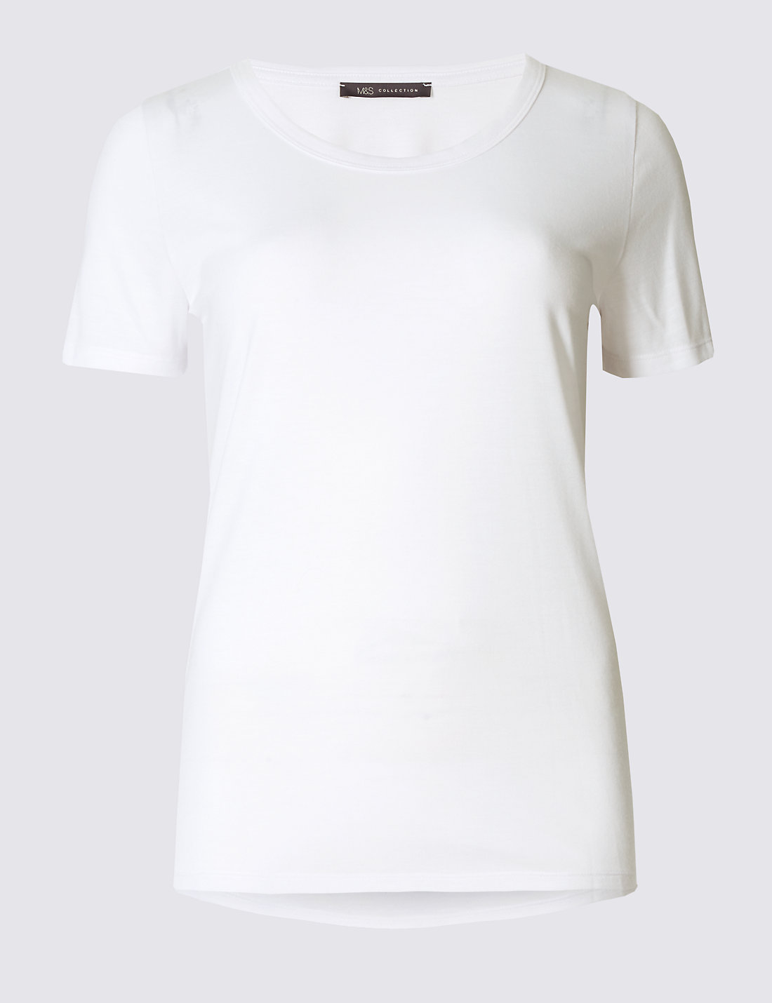 T shirt white black - Round Neck Short Sleeve T Shirt