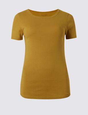 Базовая футболка слим с коротким рукавом M&S Collection T411269A