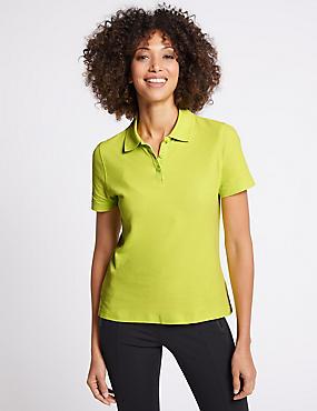 Pure Cotton Short Sleeve Polo Shirt , LIME, catlanding