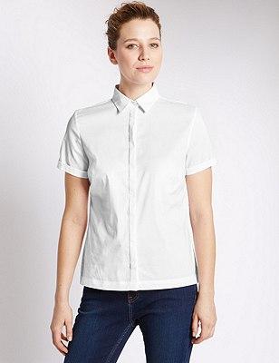 Dobby Shirt, WHITE, catlanding