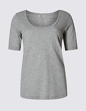 Modal Blend Swing Fit T-Shirt, GREY MARL, catlanding