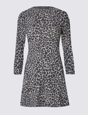 Туника свинг с леопардовым принтом M&S Collection T411857J