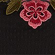 Embroidered Applique Mesh T-Shirt, BLACK MIX, swatch