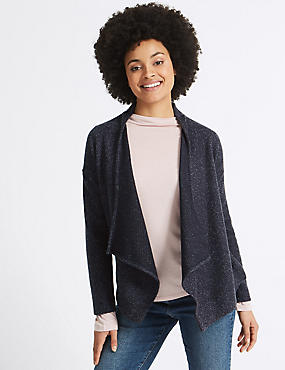 Waterfall Cardigan  , NAVY, catlanding