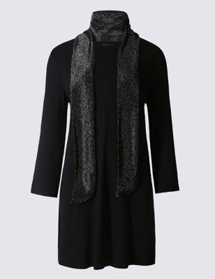 Туника с шарфом M&S Collection T414077J