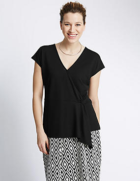 Panelled Wrap Top