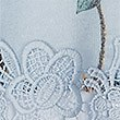 Floral Print Lace Insert T-Shirt, LIGHT BLUE, swatch