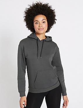 Cotton Rich Long Sleeve Sweatshirt, GREY, catlanding