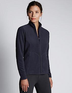 Anti Bobble Fleece Jacket, NAVY, catlanding