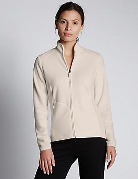 Anti Bobble Fleece Jacket, WINTER WHITE, catlanding