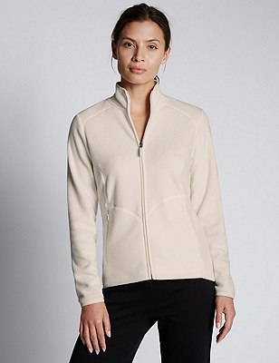 Anti Bobble Fleece Jacket, WINTER WHITE, catlanding