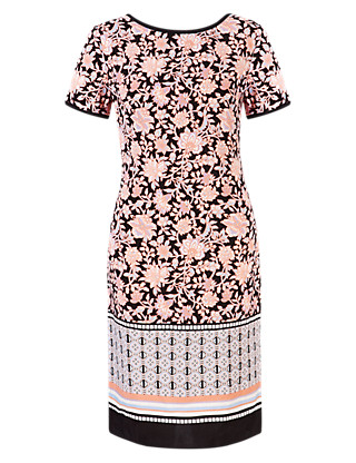 Tile Floral Tunic Dress Clothing