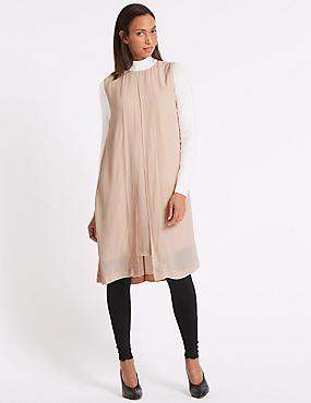 Longline Tunic Dress, DUSTED PINK, catlanding