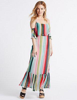 PETITE Striped Maxi Dress, MULTI, catlanding