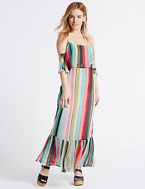 PETITE– Fond de robe coupe longue à rayures, MULTI, catlanding
