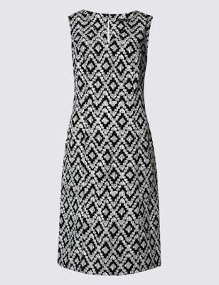 Прямое платье Tribal из лиоцелла и льна