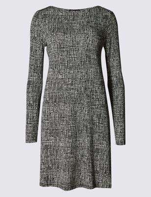 Платье свинг с рябью