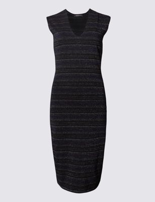 Платье-бодикон из люрекса