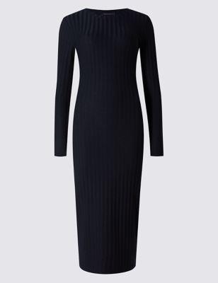 Платье-туба с эластаном