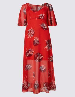 Приталенное платье-макси Oriental