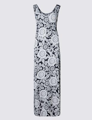 Платье-макси с принтом пэйсли