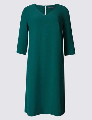 Платье-туника с V-горловиной