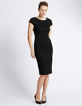 Textured Utility Bodycon Dress