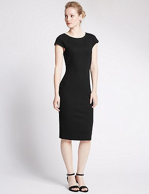 PETITE Bodycon Dress, BLACK, catlanding