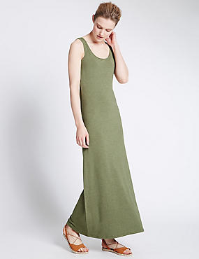 Scoop Neck Vest Maxi Dress