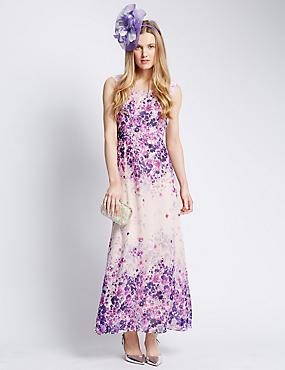 Maxi-jurk met bloemenopdruk, IVOOR MIX, catlanding
