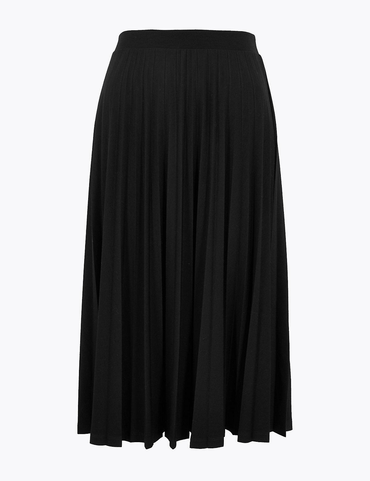 Плиссированная стильная юбка-миди
