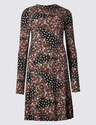 Платье-свинг в мелкий цветочек M&S Collection T423127