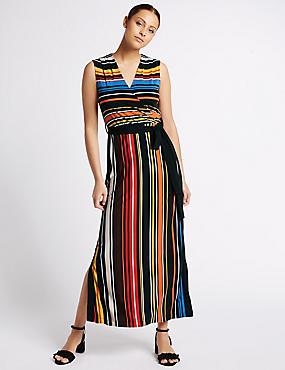 Maxi-jurk met streepmotief, MULTI, catlanding