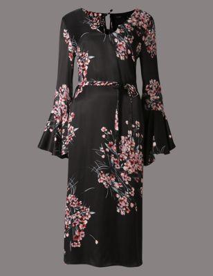 Прямое платье с цветочным принтом и бантом на спине Autograph T423319
