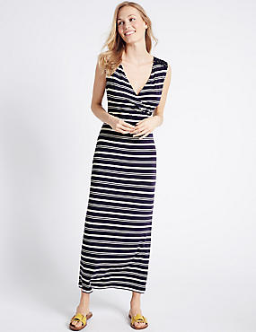Striped Maxi Dress, NAVY MIX, catlanding