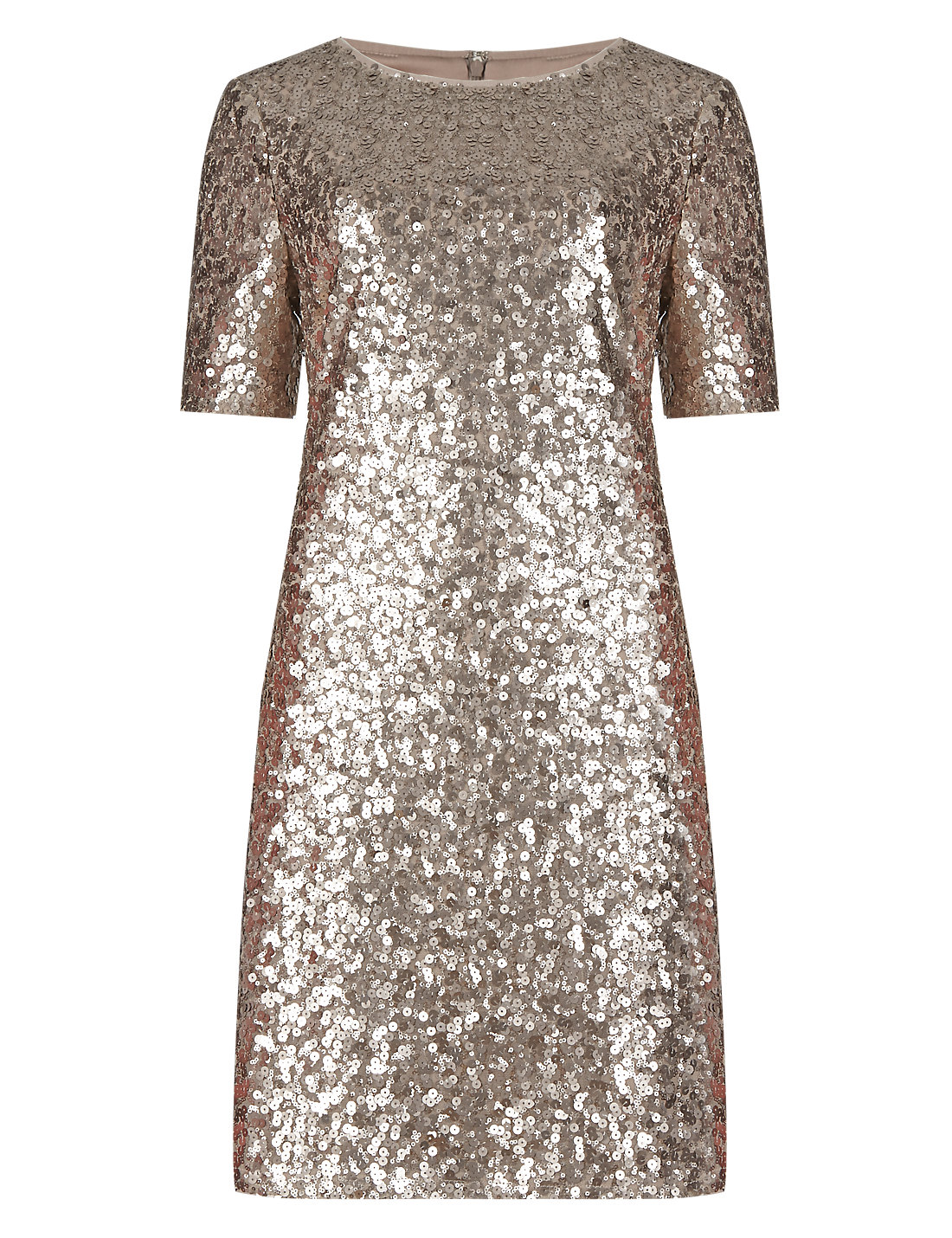 All-Over Sequin Embellished Tunic Dress | M&S
