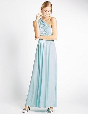 Multiway Strap Maxi Dress, DUCK EGG, catlanding
