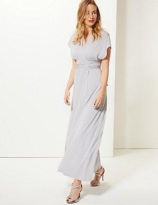 Multiway Strap Maxi Dress, SILVER GREY, catlanding